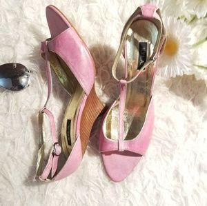 N.Y.L.A. Super Cute Pink Sz 10 Block Heel Shoes